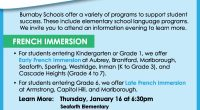 Burnaby Schools offers a variety of programs to support student success, including elementary language programs. For families interested in learning more about Early French Immersion (Kindergarten or Grade 1), Late […]